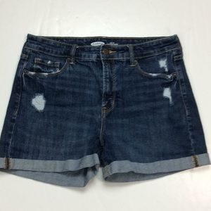 Old Navy High Rise Distressed Cuffed Shorts Sz 8